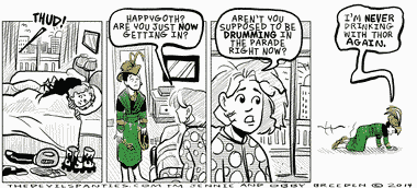 Happygoth has an amazing 1920's Loki dress.