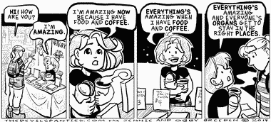 I forget, at conventions, that food is not optional.