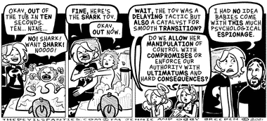 Once someone mentioned toddlers have trouble with Transitions I started using music whenever we had to go from one place to another.