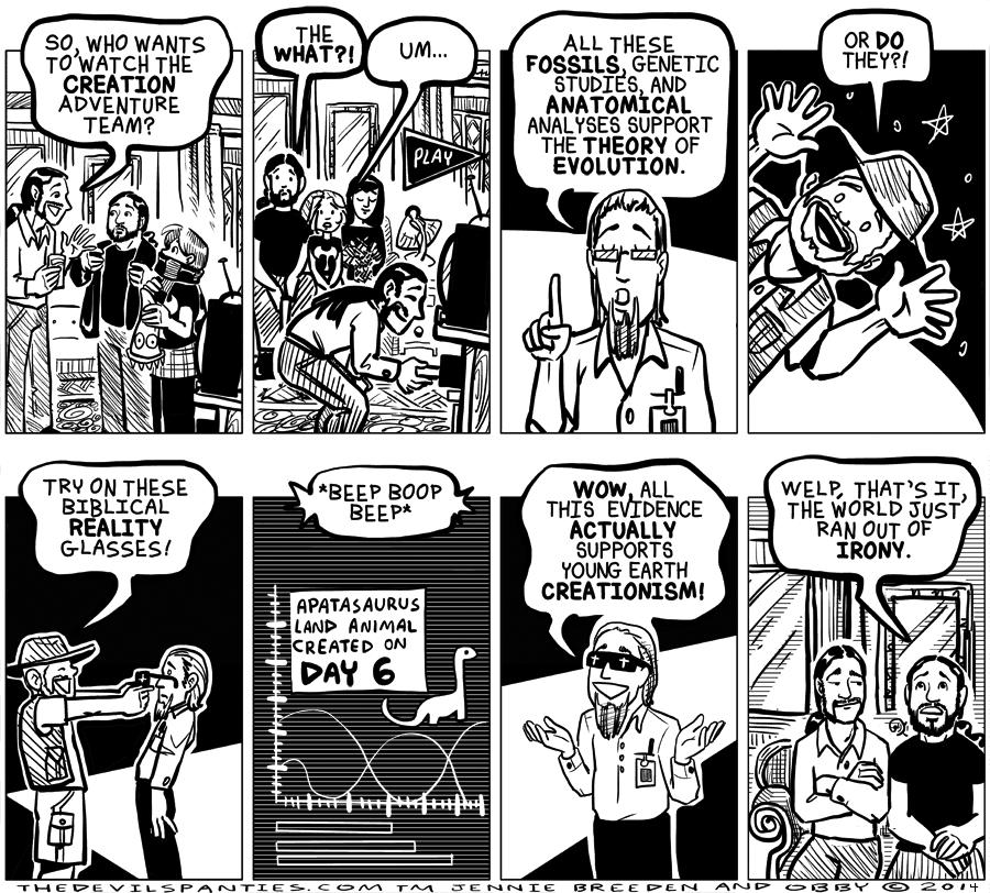 The creepy animatronic  anthropomorphic dinosaur deserves it's own comic.