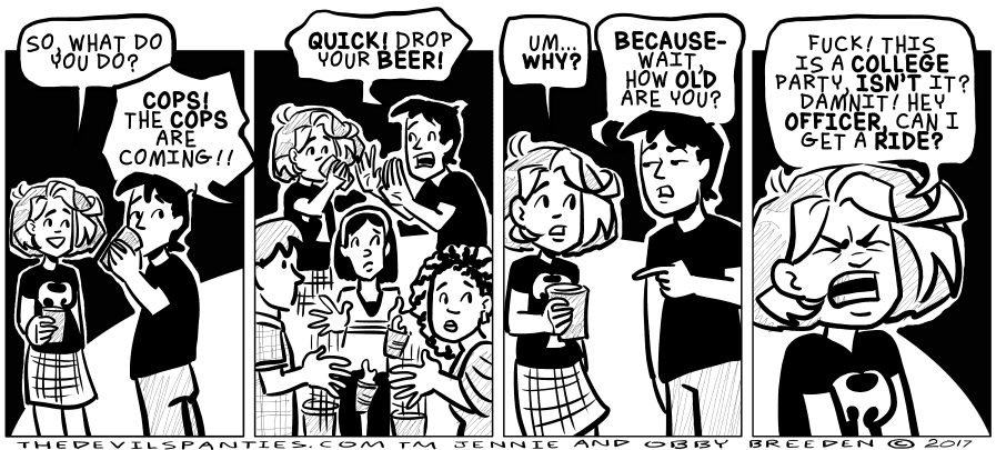 This actually happened ten years ago and I was STILL too old for that party.