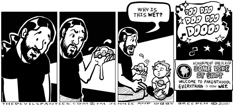 Sometimes it's pee.